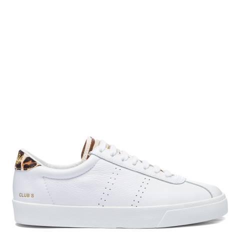 Superga White/Zebra 2843 Sport Club S Ponyhair Sneakers