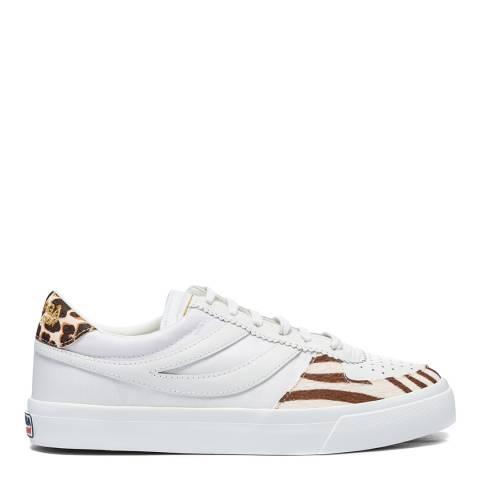 Superga White/Zebra 2846 Sport Seattle Sneakers