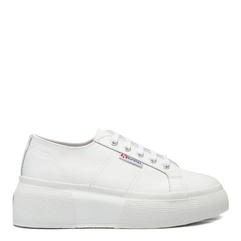 Superga White 2287 Leather Sneakers
