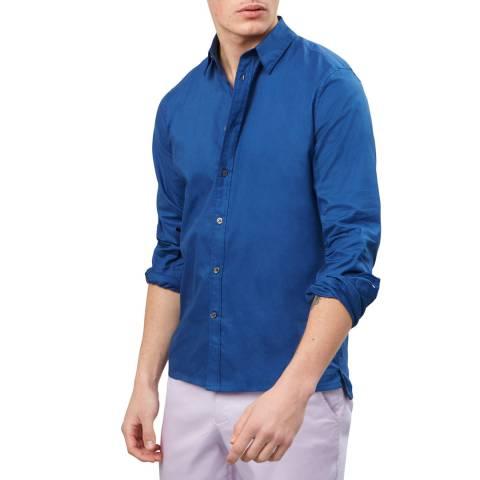 Richard James Navy Cotton Shirt