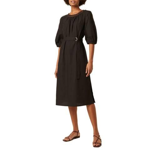 Great Plains Black Detailed Cotton Dress