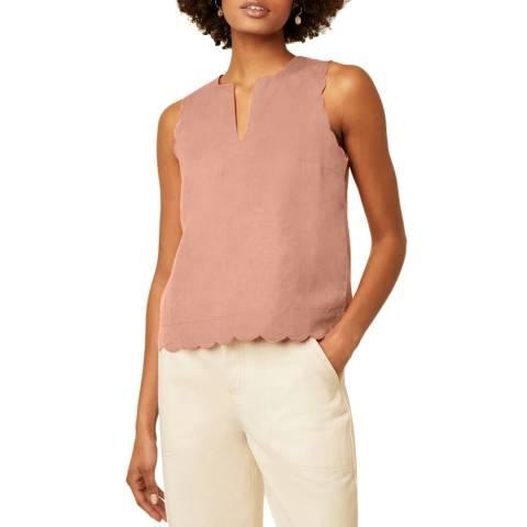 Great Plains Rose Linen/Cotton Scallop Top