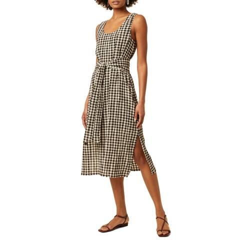 Great Plains Multi Check Tie Waist Cotton Blend Dress