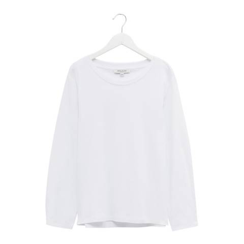Great Plains White Long Sleeve Crew Neck Top
