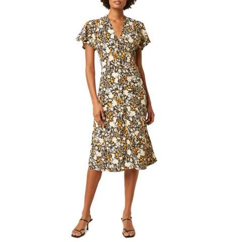 Great Plains Multi Floral Print V Neck Midi Dress