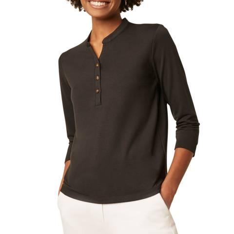 Great Plains Black 3/4 Sleeve T-Shirt