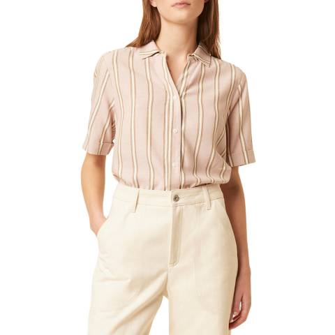 Great Plains Multi Stripe Collared Cotton Shirt