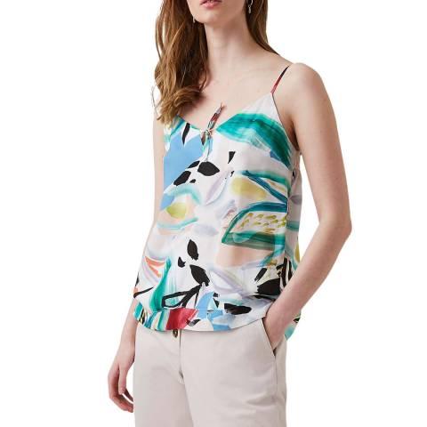 Great Plains Multi Print Sleeveless Cotton Blend Top
