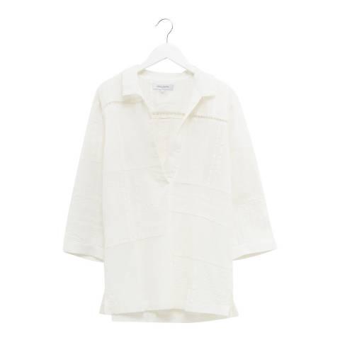 Great Plains White Cotton Short Sleeve Shirt