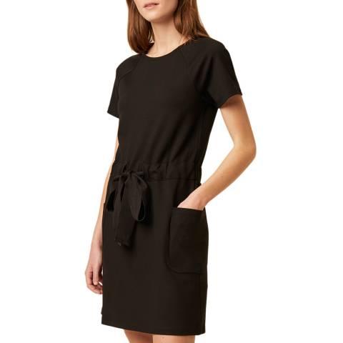 Great Plains Black Tie Waist Mini Dress