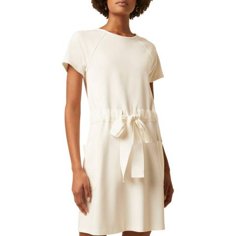 Great Plains White Tie Waist Mini Dress