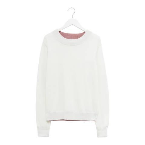 Great Plains White Cotton Blend Knit Jumper