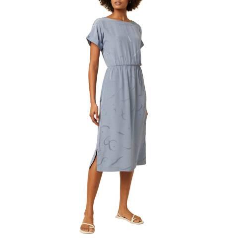 Great Plains Blue Tie Back Detailed Dress
