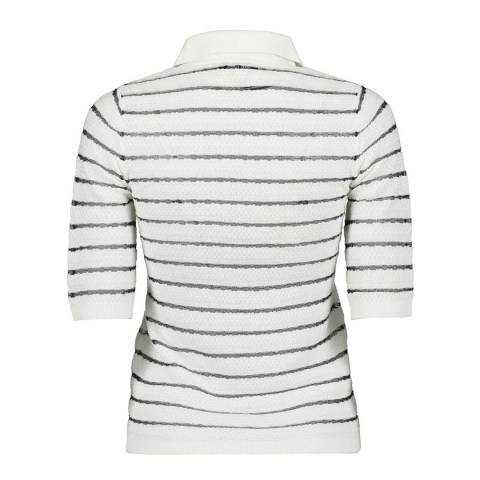 Great Plains Multi Stripe Short Sleeve Knit Top
