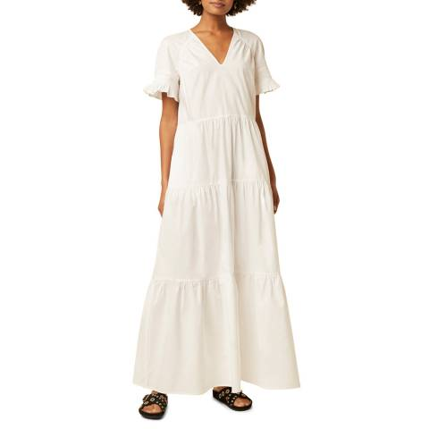 Great Plains White Cotton Maxi Dress