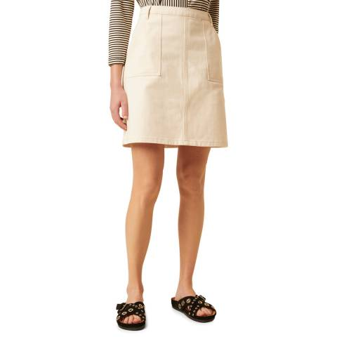 Great Plains Beige Structured Mini Skirt