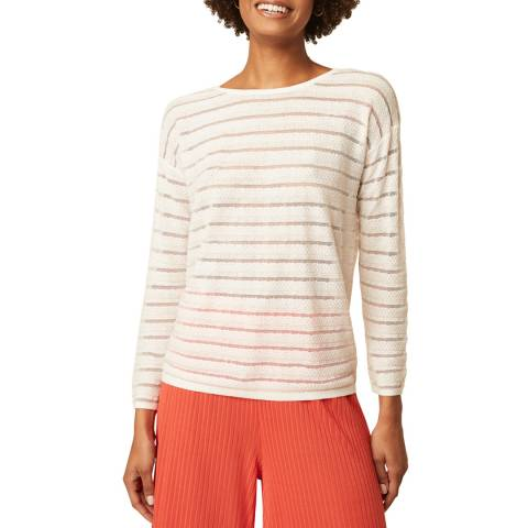 Great Plains White Stripe Long Sleeve Top