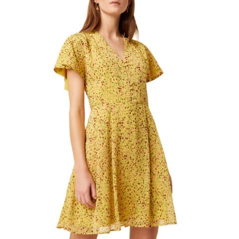 Great Plains Yellow Floral Print Mini Dress