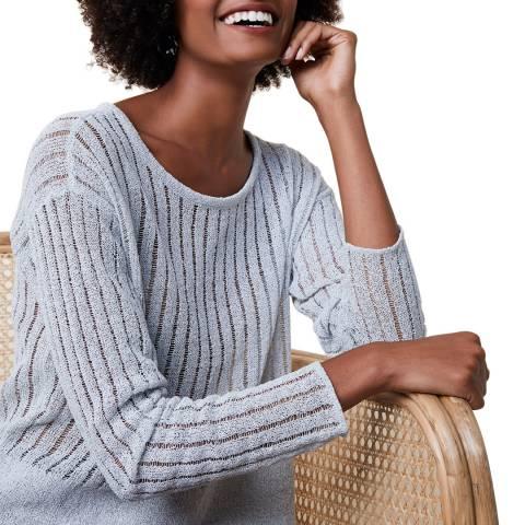 Great Plains Soft Grey Cotton Knit Jumper