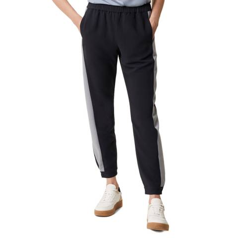 Great Plains Navy Stripe Detailed Trouser