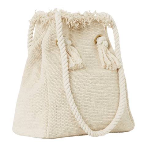 Great Plains Beige Rope Detailed Cotton Bag