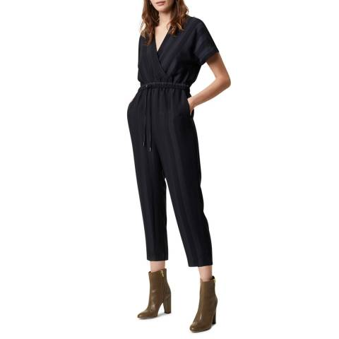 Great Plains Navy Batwing Sleeve Cotton Jumpsuit