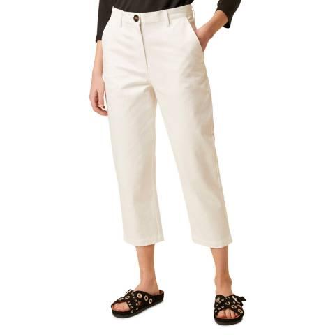 Great Plains White Straight Leg Trouser
