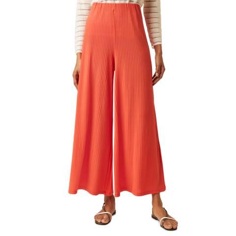 Great Plains Paprika Ribbed Wide Leg Cotton Trouser
