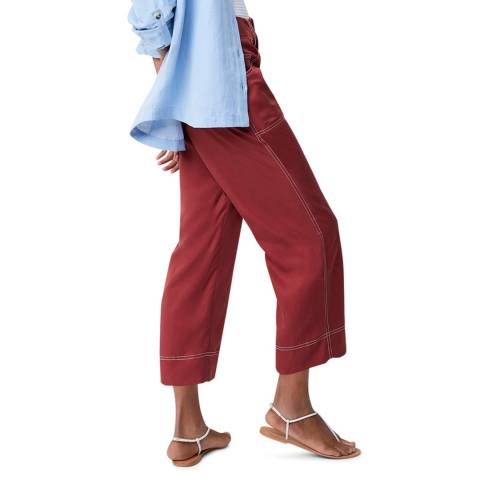 Great Plains Dark Red Wide Leg Trouser