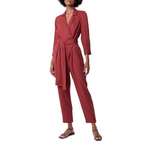 Great Plains Dark Red Long Sleeve Jumpsuit