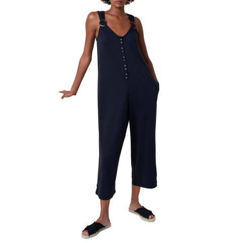 Great Plains Black Sleevless Button Through Jumpsuit