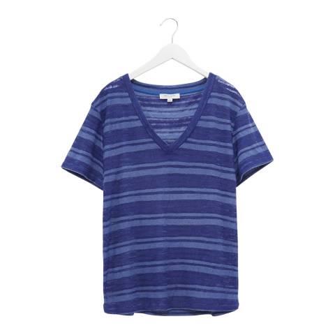 Great Plains Blue V Neck Short Sleeve T-Shirt