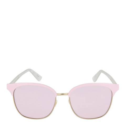Gucci Women's Shiny Gold/Pink Gucci Sunglasses 53mm