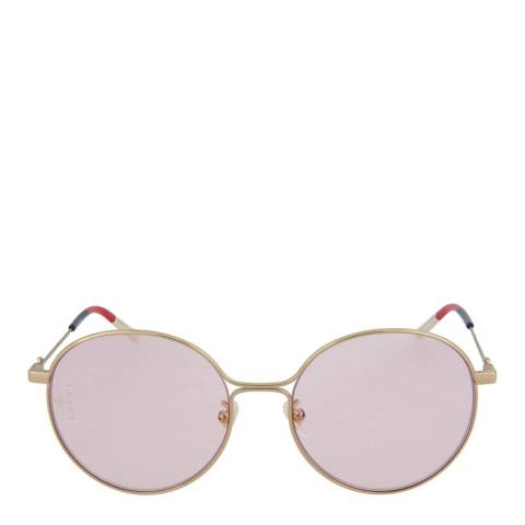 Gucci Women's Gold/Pink Gucci Sunglasses 56mm