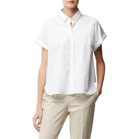 BOSS White Bixina Blouse