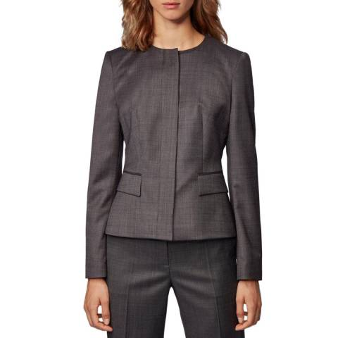 BOSS Grey Jamaren Wool Jacket