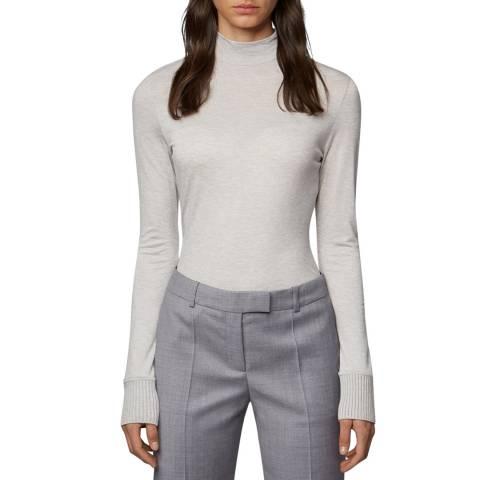 BOSS Silver Wool Blend Egine Top