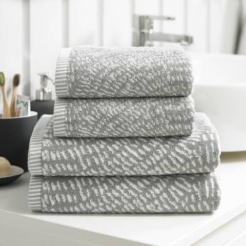 Deyongs Cannes Bath Towel, Silver