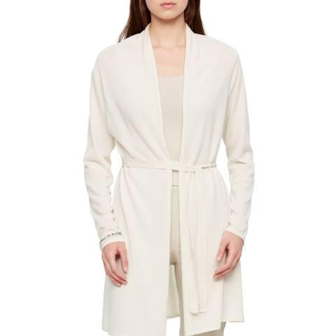 SARAH PACINI White Tie Waist Cotton Cardigan