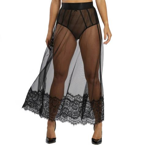 Regalia Black Bobbi Lace And Mesh Skirt