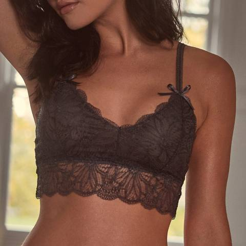 Wolf & Whistle Steel Grey Ariana Everyday Lace Bralette