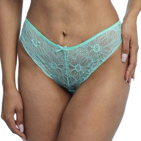 Wolf & Whistle Mint Ariana Everyday Lace Brief
