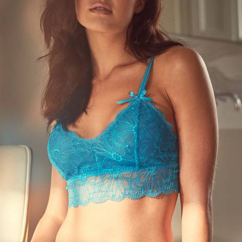 Wolf & Whistle Aqua Ariana Everyday Lace Bralette