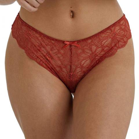 Wolf & Whistle  Rust Ariana Everyday Lace Brief