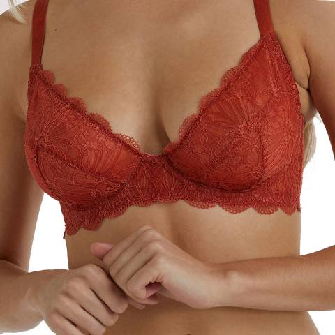 Wolf & Whistle  Rust Ariana Everyday Lace Bra