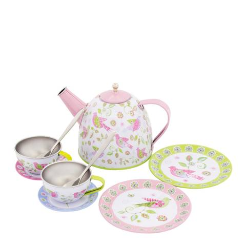 Ulysse Bird Tin Tea Set