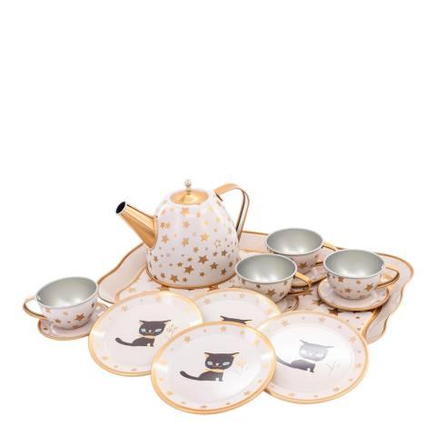 Ulysse Cat Tin Tea Set