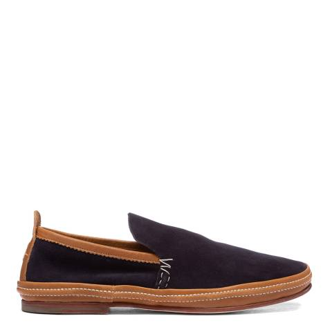 Oliver Sweeney Navy Anglesey Suede Espadrille