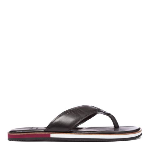 Oliver Sweeney Black Wight Leather Sandals