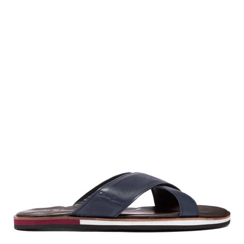 Oliver Sweeney Navy Yell Leather Sandals
